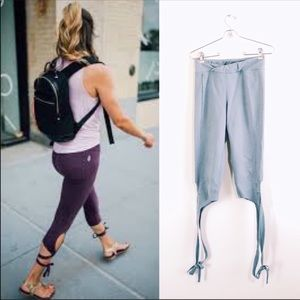 FREE PEOPLE movement turnout tie up leggings small